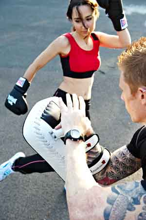 Thai Kick Pad Personal Training Outdoors